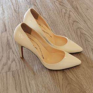 Red Sole Patent leatherette sexy white heels